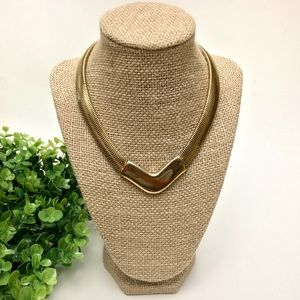 Vintage Liquid Chain Geometric Collar Necklace